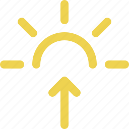 day, early, morning, sun up, sunrise, weather icon