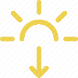 evening, late, night, sun down, sunset, weather icon
