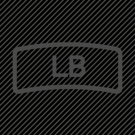 bumper, left, one, xbox icon