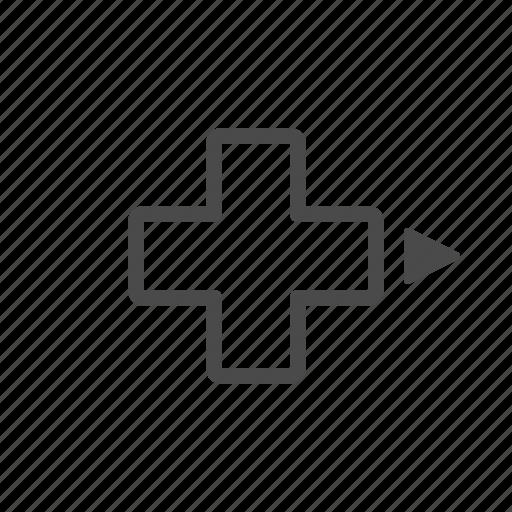 arrow, dpad, one, right, xbox icon