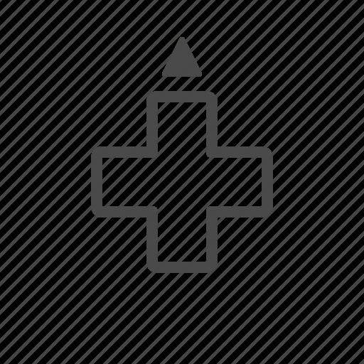 arrow, dpad, one, up, xbox icon