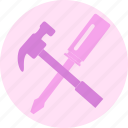 construction, hammer, repair, tools icon