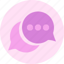 bubble, chat, chattinf, message icon
