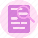 blank, document, file, folder, letter, paper, search icon