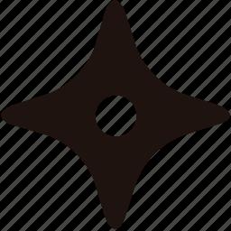 ninja, star, suricane, weapon icon