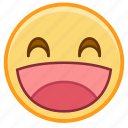 emoji, emotion, face, happy, laugh, smile