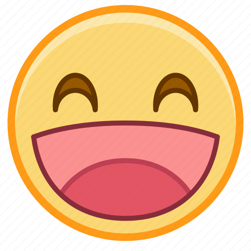 emoji, emotion, face, happy, laugh, smile icon