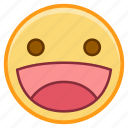 emoji, emoticon, emotion, face, smile, sticker icon