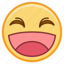 emoji, emoticon, emotion, face, laugh, sticker icon