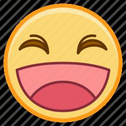 emoji, emoticon, emotion, face, laugh, sticker icon