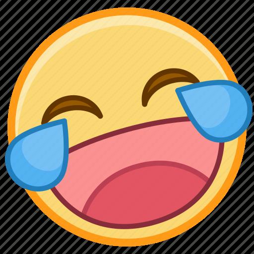 emoji, emotion, face, happy, laugh, smile, tear icon