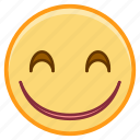 emoji, emotion, face, happy, smile icon