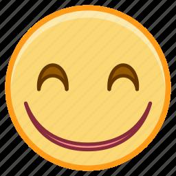 emoji, emotion, face, happy, smile icon