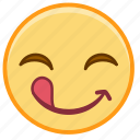 emoji, emotion, face, out, smile, tonge icon