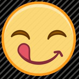 emoji, emotion, face, out, smile, tonge icon