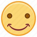chuckle, emofi, emotion, face, smile