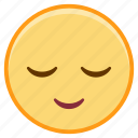 dreamy, emoji, emoticon, emotion, face, sticker icon