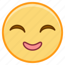 emoji, emotion, face, grin, smile icon