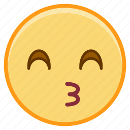 emoji, emotion, face, kiss, talk icon