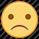emoji, emoticon, emotion, face, sad, sticker