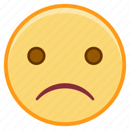 emoji, emoticon, emotion, face, sad, sticker icon