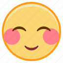 emoji, emotion, face, love, shy icon
