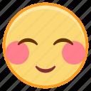 emoji, emotion, face, love, shy