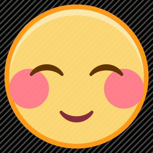 emoji, emotion, face, love, shy icon