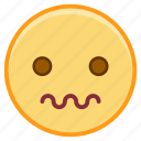 emoji, emoticon, emotion, face, scared icon