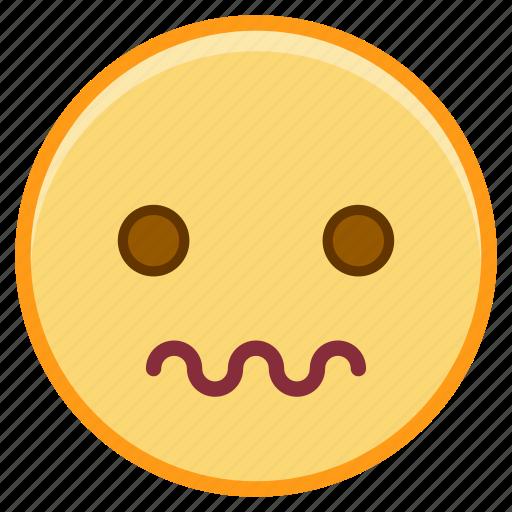 emoji, emoticon, emotion, face, scared icon