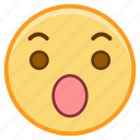 emoji, emoticon, emotion, face, sticker, surprised icon