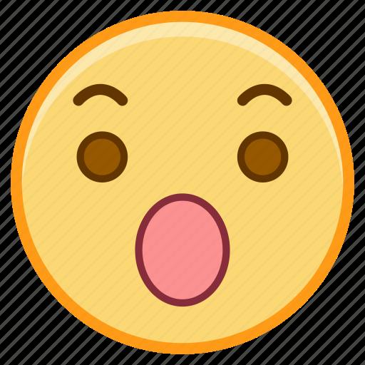 emoji, emoticon, emotion, face, sticker, surprised icon