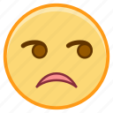 emoji, emoticon, emotion, face, glare icon