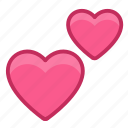 effection, emotion, hearts, love, together