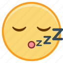 emoji, emoticon, emotion, face, sleep, sticker icon