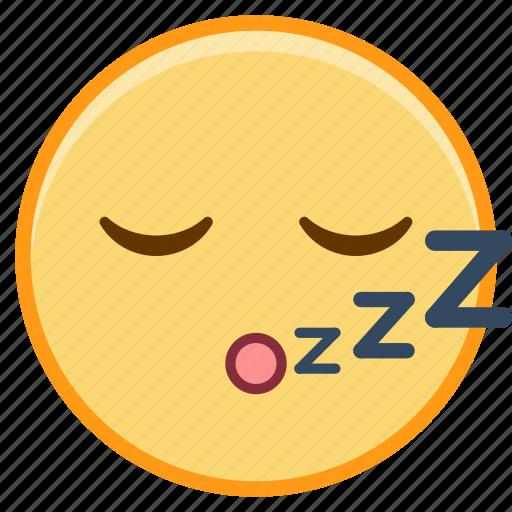 emoji, emoticon, emotion, face, sleep, sticker icon