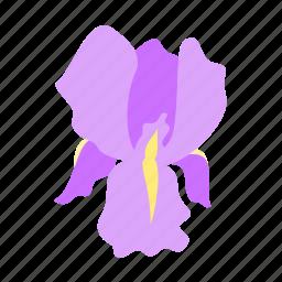 floral, flower, friendship, iris, nature icon