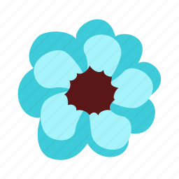 anenome, floral, flower, forever, love, nature icon