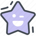 falling, star, xmas, smile icon