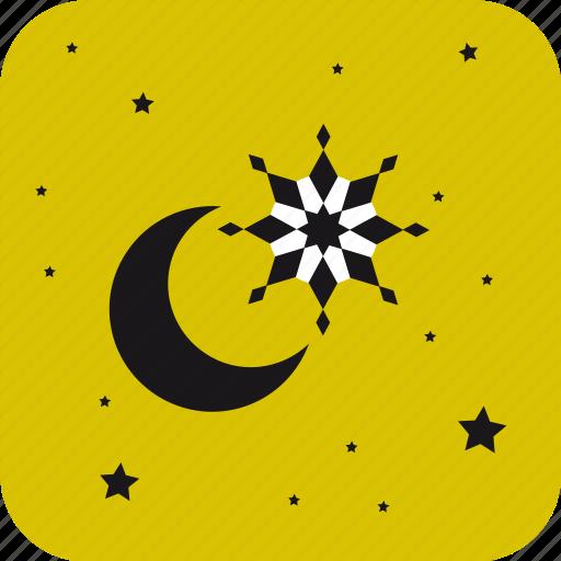 christmas, moon, star, stars, xmas icon