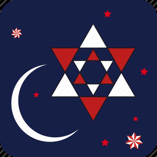christmas, cloud, moon, star, stars, xmas icon