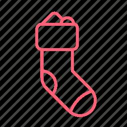 christmas, gift, socks, sox icon