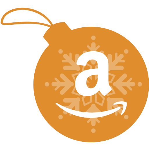 amazon, ball, christmas icon