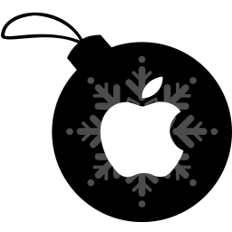 apple, ball, christmas icon