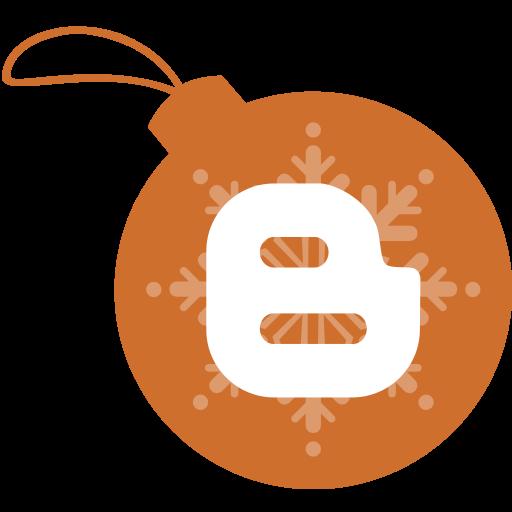 ball, blogger, christmas icon