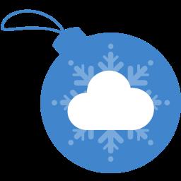 ball, christmas, cloudapp icon