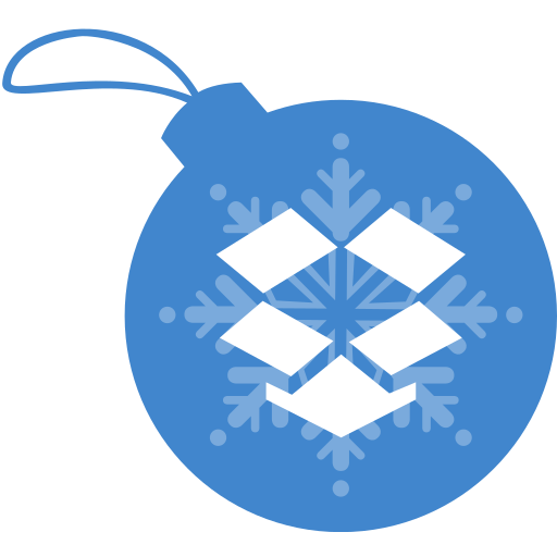 ball, christmas, dropbox icon