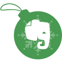 ball, christmas, evernote icon