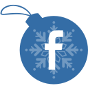 ball, christmas, facebook icon