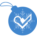 ball, christmas, foursquare icon